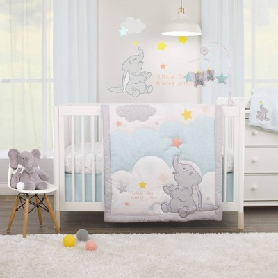 Disney Dumbo - Shine Bright Little Star Nursery Crib Bedding Set - 3pc