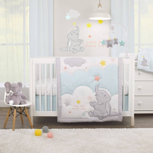 Disney Dumbo Shine Bright Little Star Nursery Crib Bedding Set 3pc Target