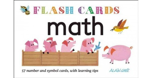 Math : 57 Number and Symbol Cards, With Learning Tips (Paperback) - image 1 of 1