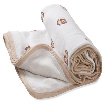 aden by aden + anais stroller blanket, safari friends - monkey