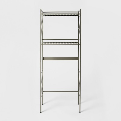 Square Tube Over the Toilet Etagere Brushed Nickel - Threshold™