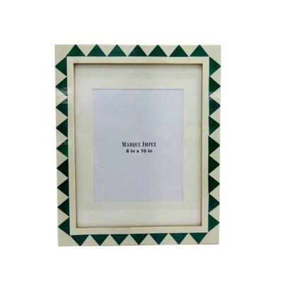 8  x 10  White and Aqua Resin Frame - Opalhouse™