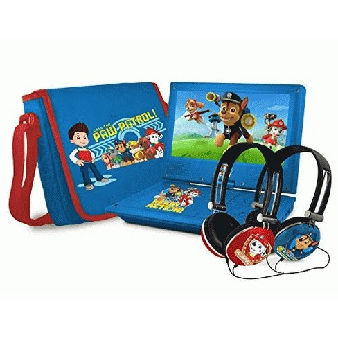 Ematic Nickelodeons Paw Patrol Theme Portable DVD Player with 9-Inch Swivel Screen, Travel Bag and 2 Sets of Headphones, Blue - image 1 of 1