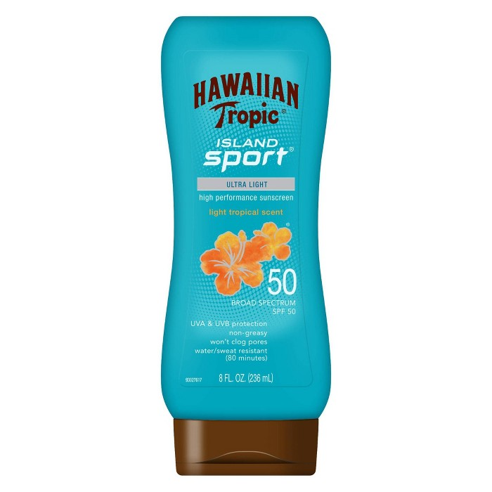 Hawaiian Tropic Island Sport Lotion Sunscreen - SPF 50 - 8oz - image 1 of 3