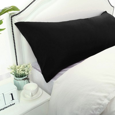 1 Pc Body 1800 Series Soft Brushed Microfiber Pillowcase Black - PiccoCasa