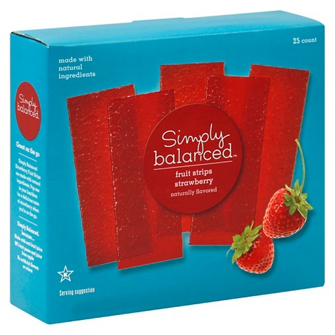 Strawberry Fruit Strips 25ct - Simply Balanced™ - image 1 of 5