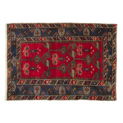 "4'11""x7'4"" Vintage One-of-a-Kind Iakup Rug Red - Revival Rugs"