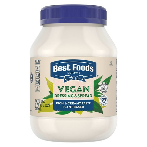 Best Foods Vegan Dressing and Sandwich Spread Carefully Crafted - 24oz - image 1 of 4