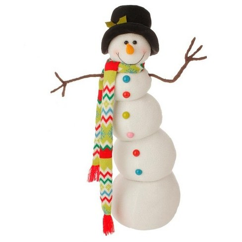 Raz Imports 26 White And Black Snowman With Hat Christmas Decor Target