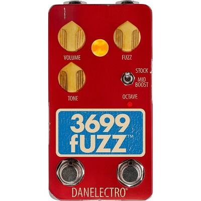 Danelectro 3699 Fuzz Effects Pedal Red