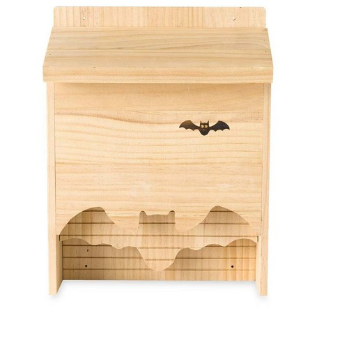 Wooden Bat House With Field Guide Cards Hearthsong