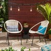 Java 2PK Faux Rattan Modern Club Chair - Christopher Knight Home - image 2 of 4