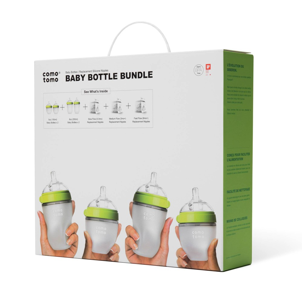 Image of Comotomo Baby Bottle Gift Set - Green