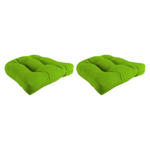 Outdoor Set Of 2 Wicker Chair Cushions In Davinci Willow  - Jordan Manufacturing - image 1 of 1
