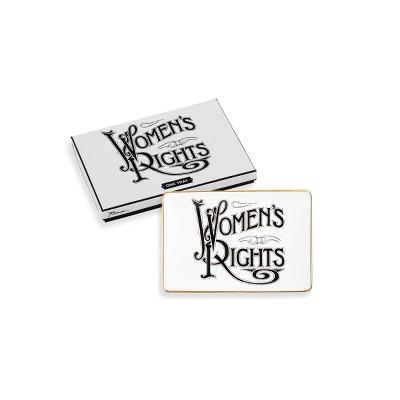 "6"" x 4"" Porcelain Women's Rights Tray - Rosanna"