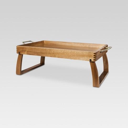 Acacia Bed Tray 23x15x8in Threshold