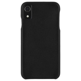 Case-Mate Apple iPhone XR Barely There Leather Case - Smooth Black