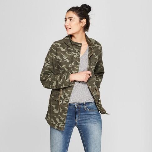 069ce8e541883 Women's Camo Print Utility Anorak Jacket - Universal Thread™ Green XL :  Target