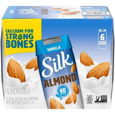 Silk Vanilla Almond Milk 8oz, 6 pk