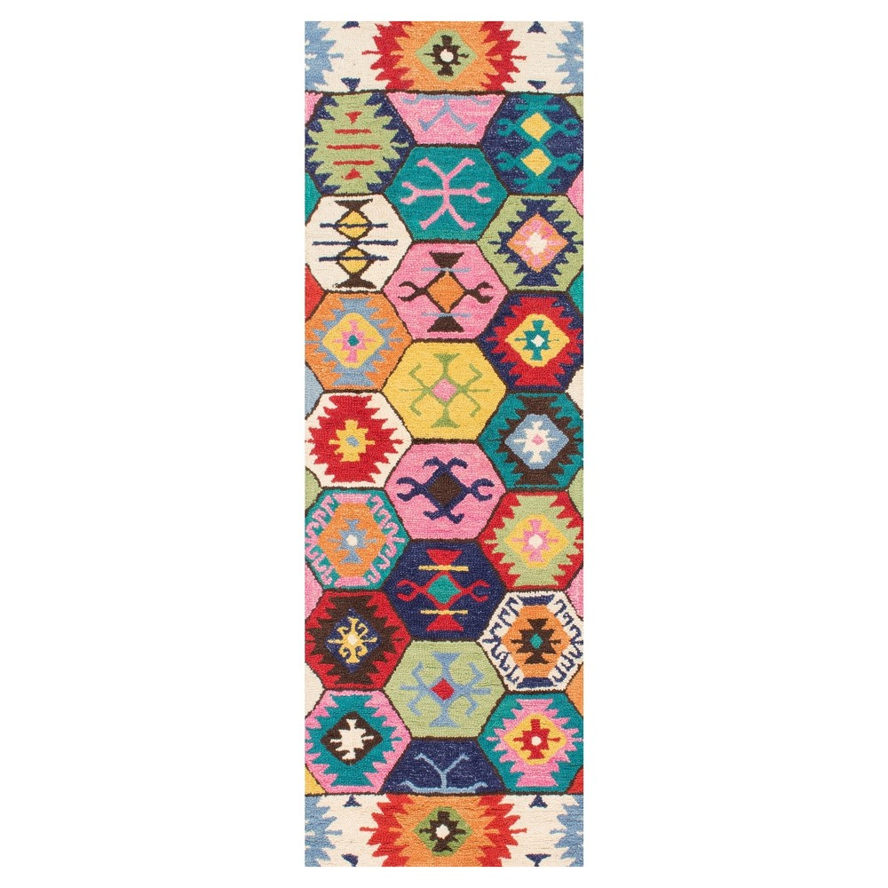 Solid Tufted Runner - (2'6x8') - nuLOOM, Multi-Colored