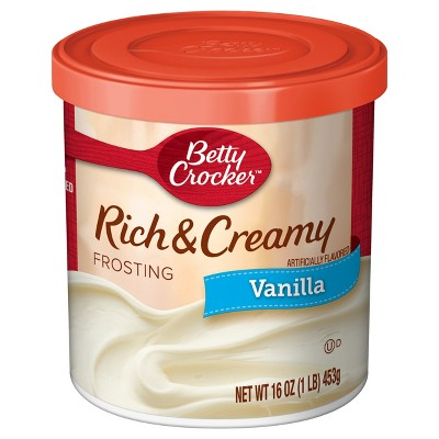 Frosting & Decorations: Betty Crocker Rich & Creamy Vanilla Frosting