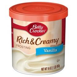 Betty Crocker Rich and Creamy Vanilla Frosting - 16oz