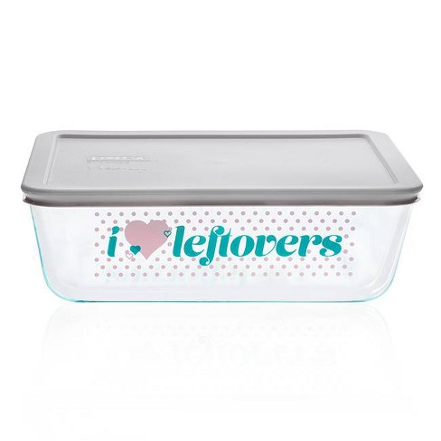 Pyrex 11cup Food Storage Container - I Heart Leftovers - image 1 of 1