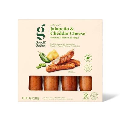 Jalapeno & Cheddar Chicken Sausage - 12oz - Good & Gather™
