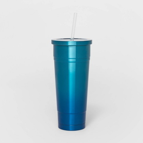 25oz Stainless Steel Double Wall Tumbler with Straw - Sun Squad™ - image 1 of 3