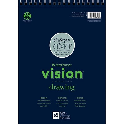Strathmore Vision Drawing Pad, 9 x 12 Inches, 64 lb, 65 Sheets