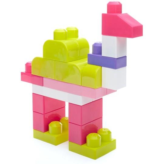 Mega Bloks Big Building Bag - Pink 80pc image number null
