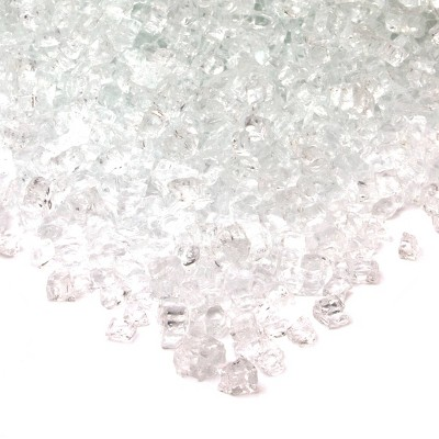 20lb Fire Glass Reflective Chips Ice Clear - Real Flame