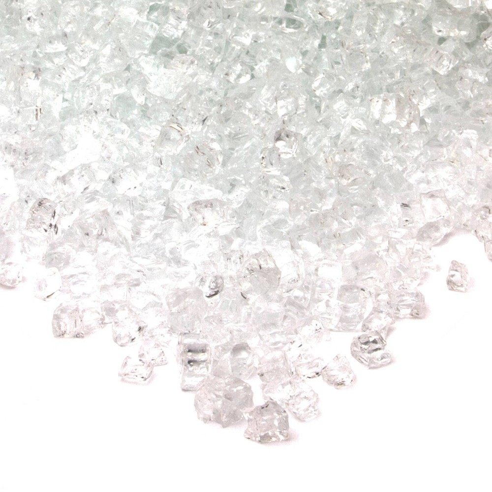 Image of 20lb Fire Glass Reflective Chips Ice Clear - Real Flame