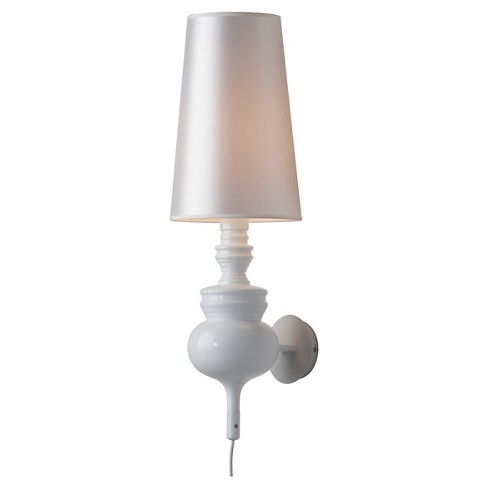 "Elegant Ceramic 29"" White Wall Lamp - ZM Home - image 1 of 2"