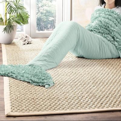 """30""""x75"""" Mermaid Ruffle Sherpa Throw Blanket - Lush Décor"""