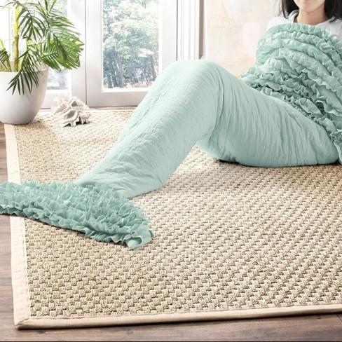 "30""x75"" Mermaid Ruffle Sherpa Throw Blanket - Lush Décor - image 1 of 4"
