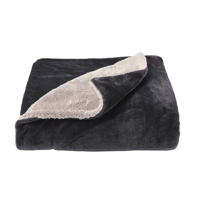 Oversized Polyester Fleece Sherpa Throw Blanket - Yorkshire Home