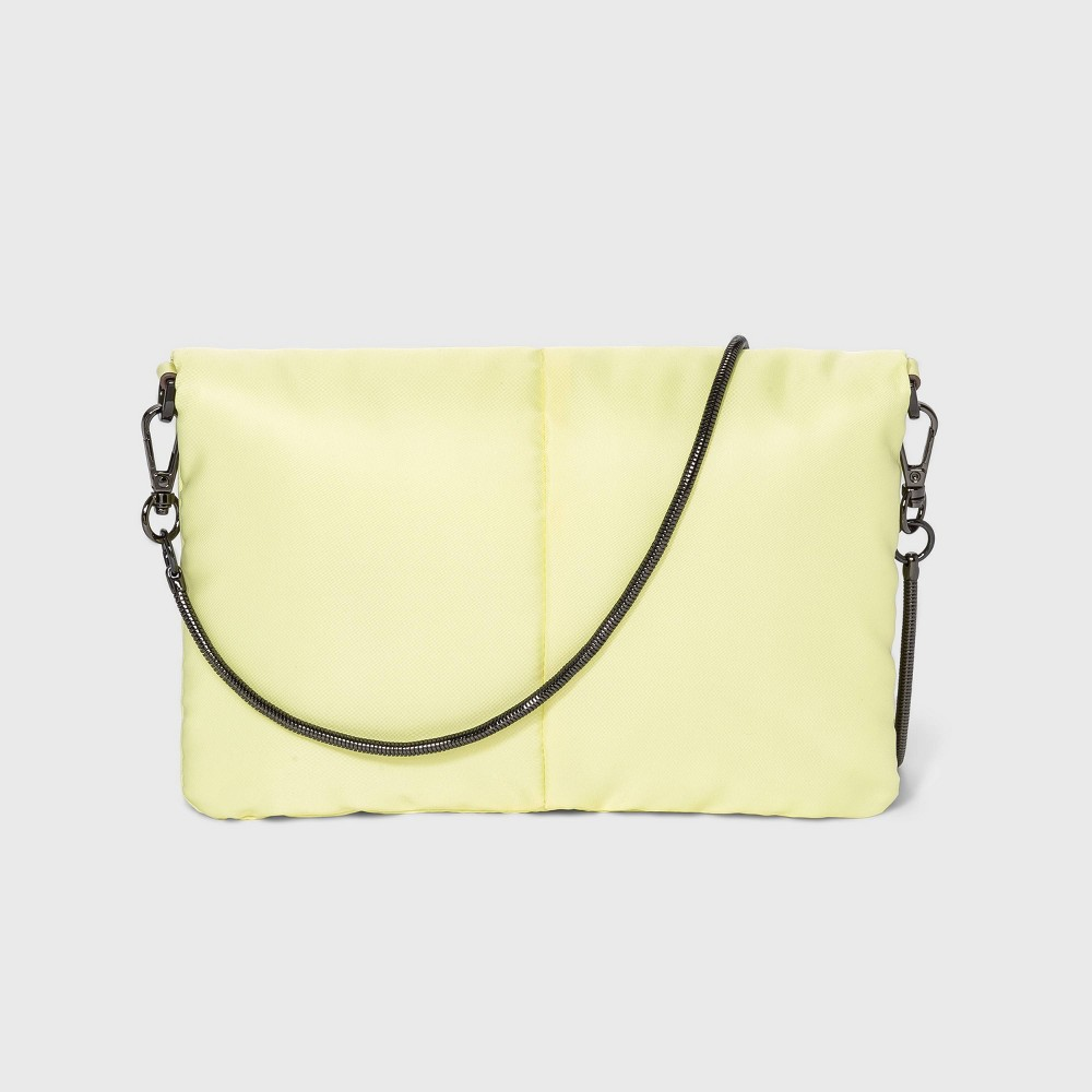 Puffer Magnetic Closure Crossbody Bag A New Day 8482 Yellow