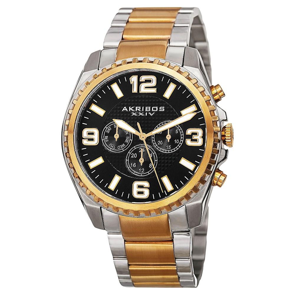 Men's Akribos Xxiv Swiss Multifunction Bracelet Watch - Two - Tone, Multi-Colored