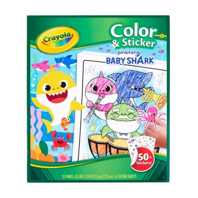Crayola Baby Shark Color & Sticker Book