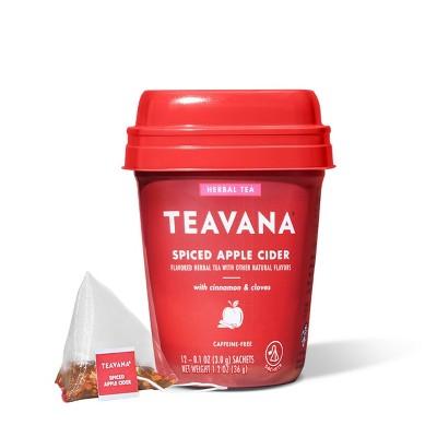 Teavana Spiced Apple Cider Caffeine -Free Herbal Tea Packets - 12ct