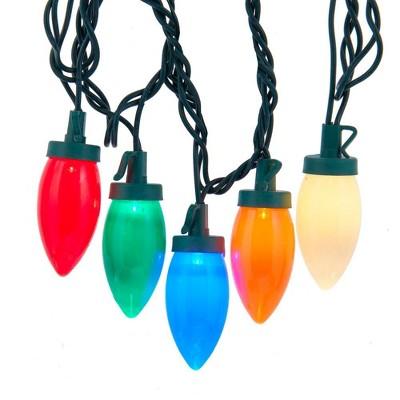 Kurt Adler 25-Light Multi-colored LED C9 Bulb Light Set