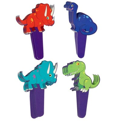 Juvale 50 Set Cartoon Jurassic Dinosaur Dino Cupcake Toppers Picks & Wrappers Liners Kids Party Supplies