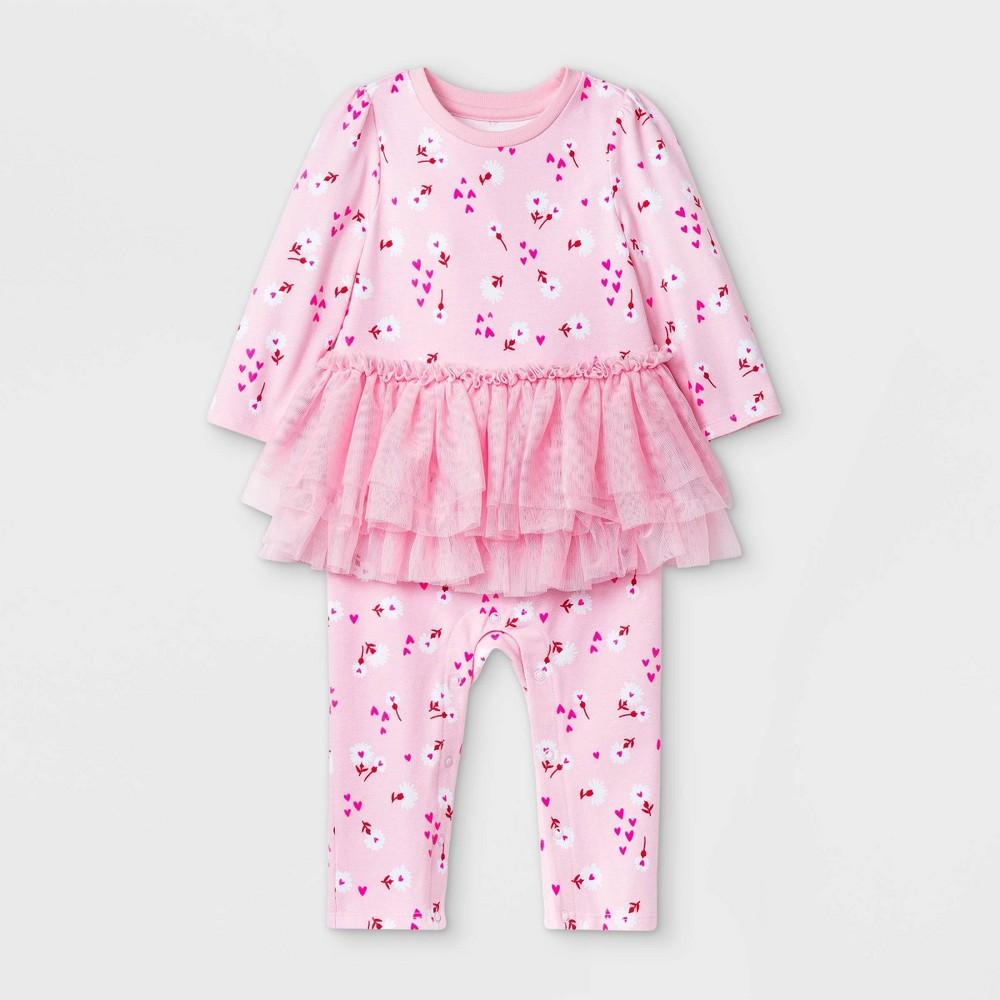Promos Baby Girls' Floral Back-Up Tutu Romper - Cat & Jack™