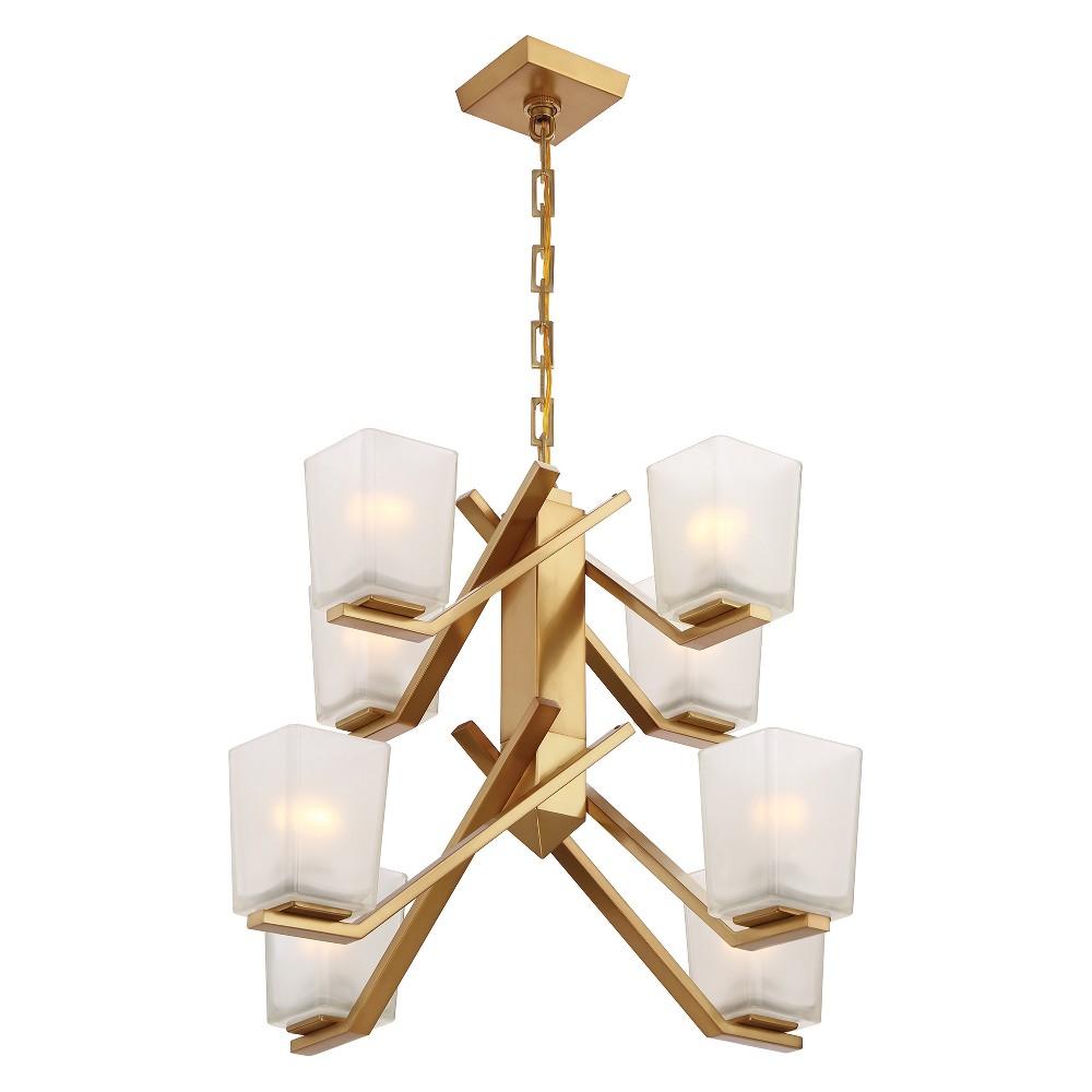 Ceiling Lights Chandelier Vintage Brass - Aurora Lighting
