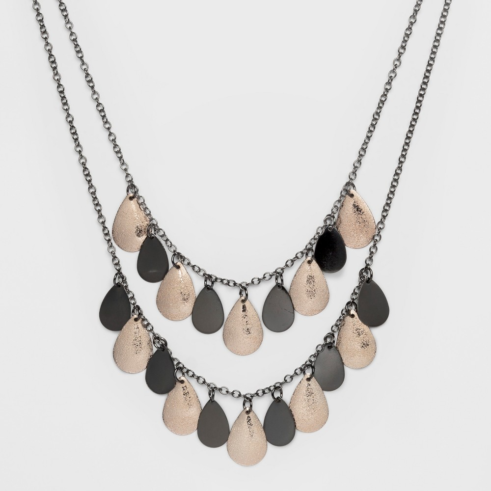 Two Rows and Drops Short Necklace - A New Day Rose Gold