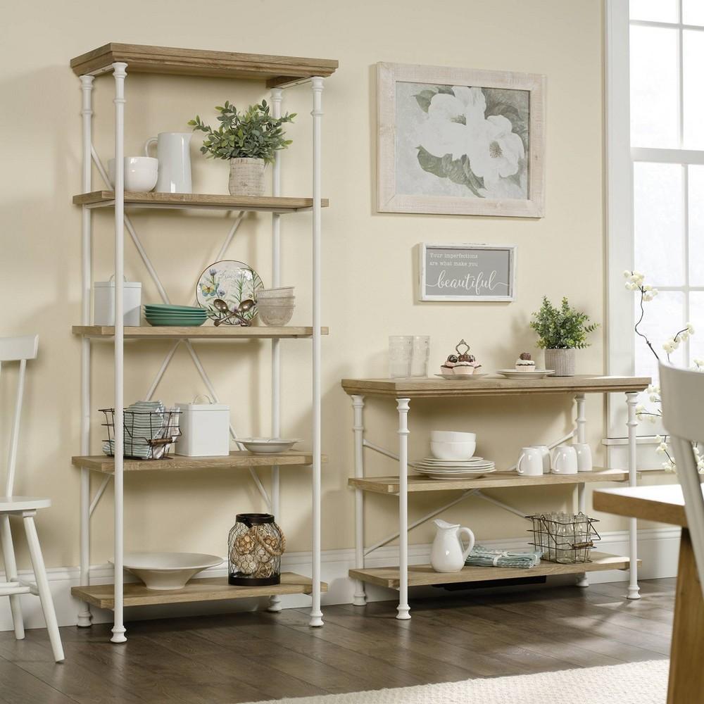 Image of 5 Shelf Canal Street Bookcase Coastal Oak - Sauder, Brown