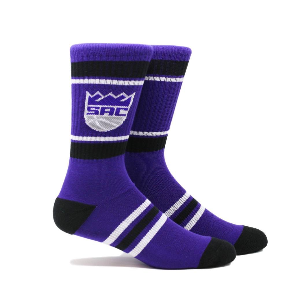 Nba Sacramento Kings Stripe Crew Socks L