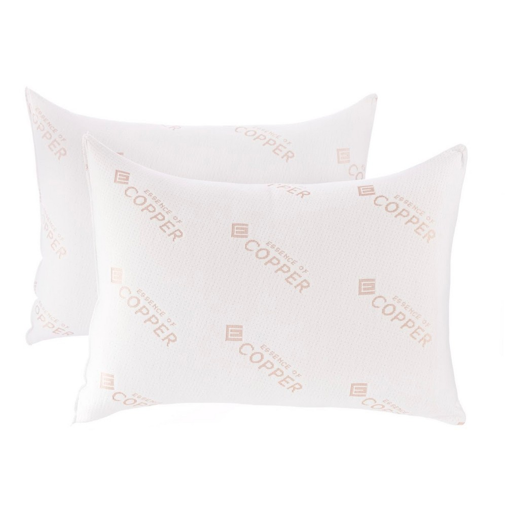 Image of Essence of Copper Jumbo 2pk Cotton Pillow White