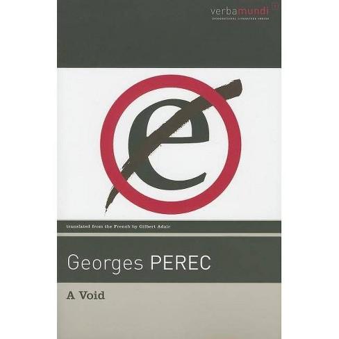 A Void - (Verba Mundi (Paperback)) by  Georges Perec (Paperback) - image 1 of 1